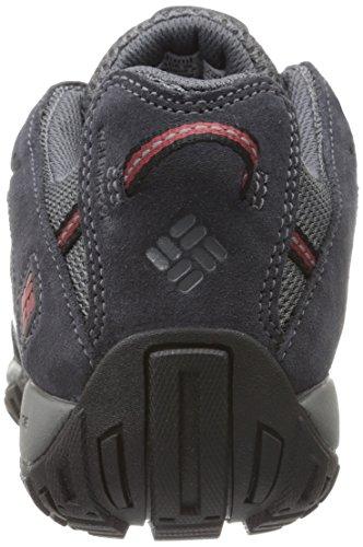 Columbia Redmond Waterproof, Chaussures de Randonnée Basses Homme, Marron Gris (Charcoal, Garnet Red 030)