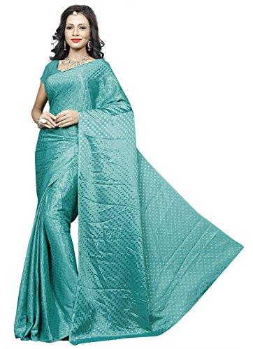 Sonika Brasso Saree (Cnn006_Turquoise)
