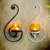 TiedRibbons® Christmas Decoration Items | Christmas Decor Light | Christmas Gift Items | Christmas Lights And Decorations | Set Of 2 Wall Mounted Tea Light Holder