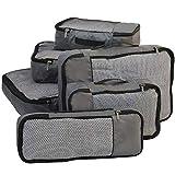 FATMUG Packing Cubes Travel Bag Organiser Set of 6