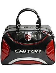 Gazechimp Bolsa de Ropa de Cuero PU Impermeable de Golf Bolsa de Duffle de Deporte con Doble Asas Ranura de Partición Accesorio de Campo de Golf - Rojo