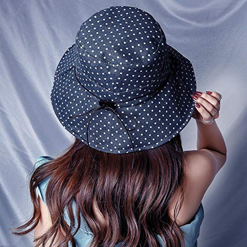 T Hut Baumwolle zusammenklappbarer Sonnenhut breiter Krempe Hut für Frauen ()