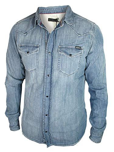 Diesel Herren Jeans Hemd New-Sonora Stone Blue 00SD24 - Diesel Herren Jeans