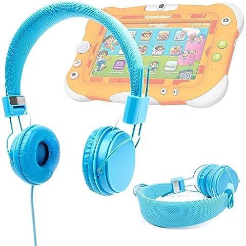 DURAGADGET Auriculares Infantiles Color Azul Para Videojet Nickelodeon - De Diadema Cerrados Acolchados Y Ajustables - De Alta Calidad ¡Perfecto Para Los Más Peques!- Disponible En Color