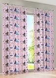 Disney Ice Queen - sipario anello decorativi sciarpa tende tenda ciclo decorazioni sciarpa per bambini - 145 x 245 cm - disponibile in bianco e rosa dal Venditore, Pink, 145 x 245 cm