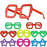 Hifot 8 Piezas Gafas de Novedad Anteojos de Lujo, Bolsas de Fiesta Infantiles para niños, Marcos de Gafas Suministros fotográficos para la Fiesta