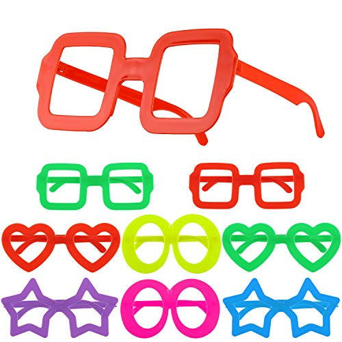 Hifot 8 Piezas Gafas de Novedad Anteojos de Lujo