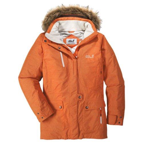 Jack Wolfskin Birch Lake Parka pour femme Orange - Light Orange Fall Heather