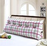 Dreieckkissen Dreieckige Bett Kopfkissen Sofakissen Einzelbett Bett Softpack Bett Große Kissen Bett Kissen Länge 150 Breite 20 Höhe 50 cm Taillenkissen (Farbe : #1, größe : 60 * 20 * 50cm)