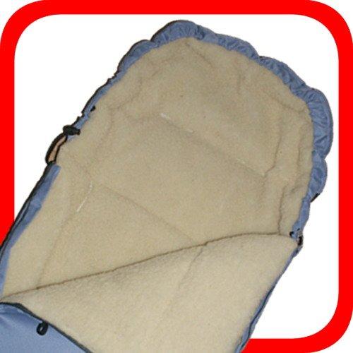 Baby Universal Fußsack, 100% Lammwolle, hellblau -