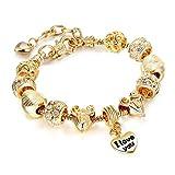 Qh Jewelry Armbänder - Goldene Shell Baby Car Legierung großes Loch Bead Armband Mädchen Armbänder
