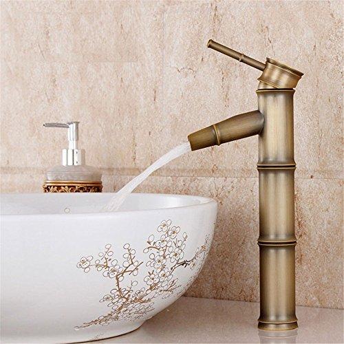 Badezimmer Waschbecken Armatur Wasserhahn Bad Armatur Küchenarmatur Bambus Hahn Alle Bronze Vintage, B