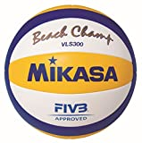 MIKASA Beach Volley Ball Beach Champ VLS 300, Unisex, 1608, Blau-Weiß-Gelb, 5