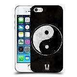 Head Case Designs Grunge Texturé Yin Et Yang - Collection Étui Coque en Gel molle pour Apple iPhone 5 / 5s / SE