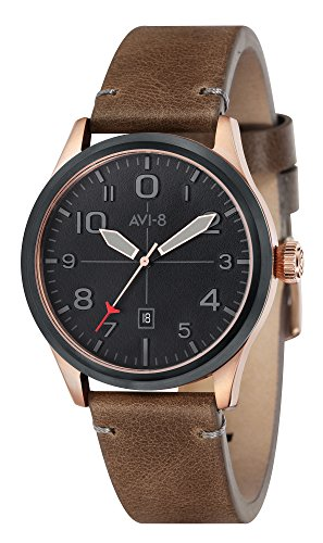 AVI-8 Mens Flyboy Watch - Brown/Black