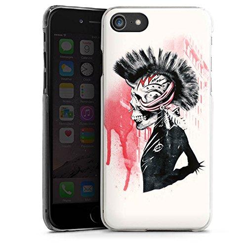 Apple iPhone X Silikon Hülle Case Schutzhülle Punk Totenkopf Skull Hard Case transparent