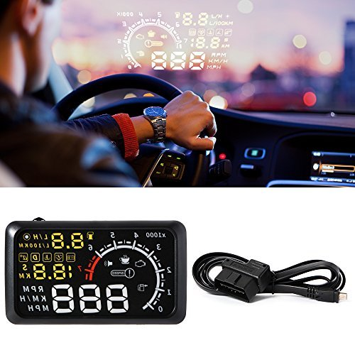XCSOURCE X3 - Head-up display per auto, con interfaccia OBD II e Bluetooth