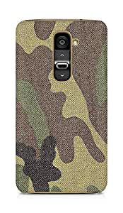 Amez designer printed 3d premium high quality back case cover for LG G2 (Surface military stains texture)