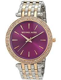 Michael Kors – Reloj de pulsera analógico para mujer cuarzo, revestimiento de acero inoxidable mk3353
