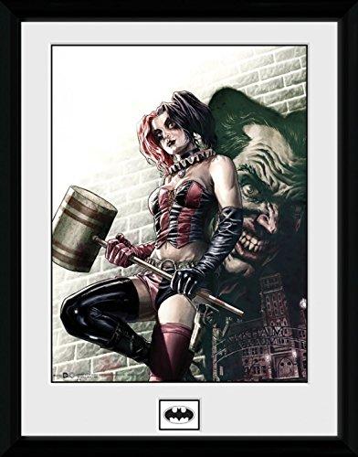 (1art1 100256 Harley Quinn - Hammer Gerahmtes Poster Für Fans Und Sammler 40 x 30 cm)