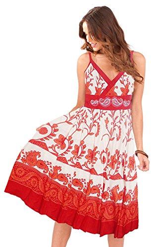 Pistachio -  Vestito  - con pinces - Floreale - Senza maniche  - Donna Red