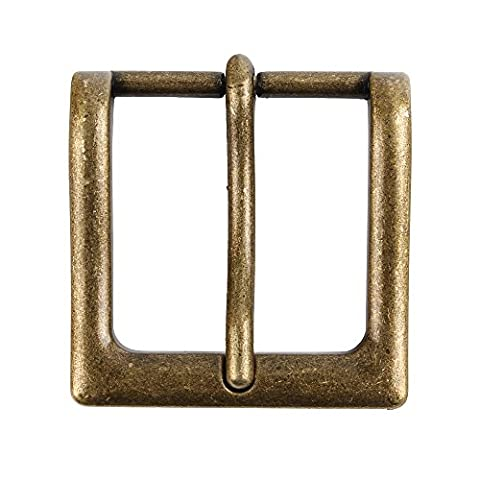 Senmi Mens Single Prong Square Solid Brass Belt Buckle Nickel