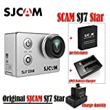 SJCAM 16GB TF-Karte mit SJ7STAR WiFi 4K, 30fps, 2(mit Fernbedienung, Helm-DV-Sport-Kamera, wasserdicht, Ambarella A12S75Chipsatz mit + 1+ 1Stück mit Ladegerät (Silber)