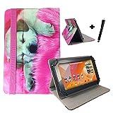 Aldi Medion Lifetab S10346 / S10333 Hund Tablet Hülle Tasche mit Aufstellfunktion - Hund Welpe Design 10.1 zoll