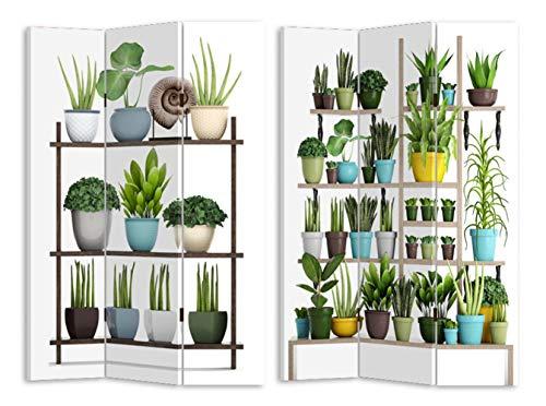 HTI-Line Paravent Gummibaum Sichtschutz Spanische Wand Raumteiler