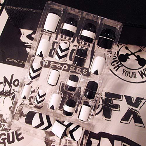 PETUNIA 24pcs Femmes Faux Ongles beauté Ongles Art Conseils Faux Ongles kit de manucure Bricolage - b01