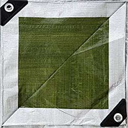 GardenMate 3x4m 140g/m² Lona de protección Prémium verde/plata - Funda protectora - Malla geotextil