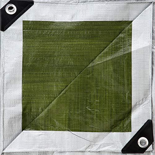 GardenMate 3x4m 140g/m² Lona de protección Prémium verde/plata - Funda protectora -...