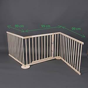 Flessibile cancelletto max 180 240cm legno 3 pannelli for Cancelletto sicurezza bambini
