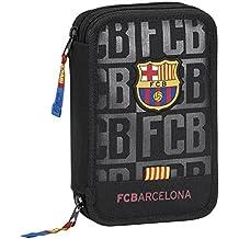 FC Barcelona 411725054 Estuches, 20 cm, Negro