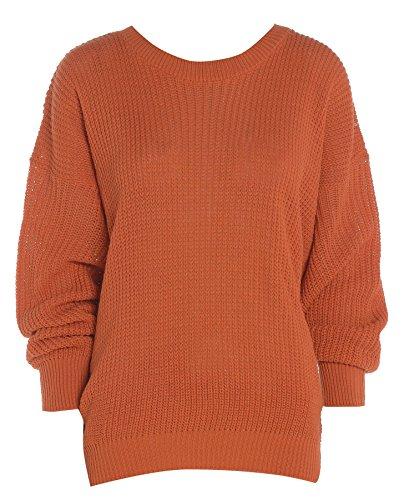 Hina Fashion -  Maglia a manica lunga  - Donna Rost