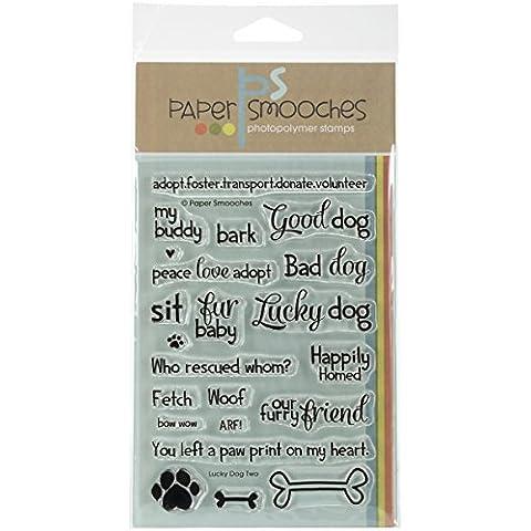 sellos de goma de papel de Smooches X 6-inch-lucky perro dos