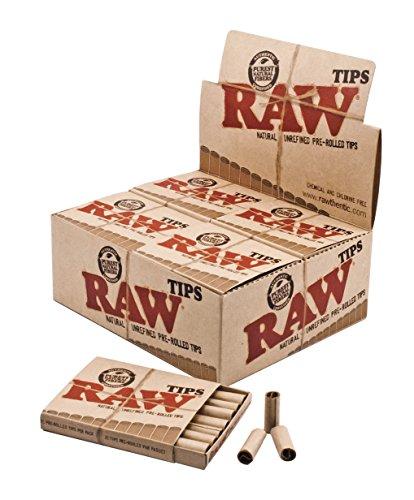 RAW vorgerollte Filter Tips slim natürliche ungebleichte Filtertips 3 Boxen (1260 Tips) -