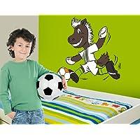 mantiburi WandTattoo Borussia Mönchengladbach® Maskottchen Jünter mit Ball Borussia Mönchengladbach 75x75cm
