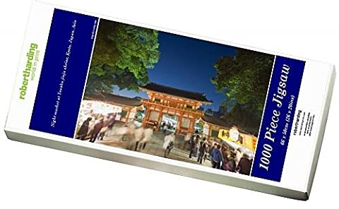 Photo Jigsaw Puzzle of Night market at Yasaka jinja shrine,