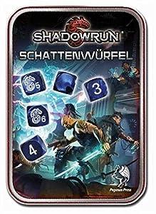 Pegasus Juegos 134102-Juego de Dados, Shadow Run, Nueva versión, Negro/Azul