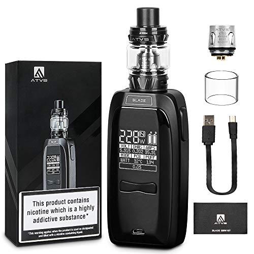 IMECIG B5 228W E Zigarette Starter Set, LED Bildschirm mit Top Refill Verdampfer, ohne Nikotin, ohne 18650 Batterie, Schwarz