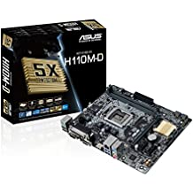 Asus H110M-D - Placa Base (2 x DDR4, HDMI, Intel H110, 2133 MHz, máximo 32 GB)