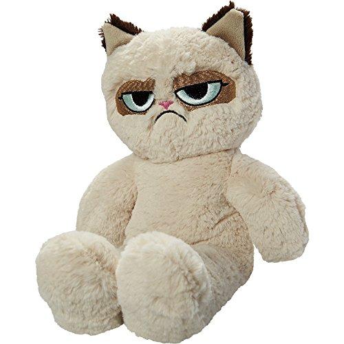 Rosewood - Juguete de peluche de Grumpy Cat para perros (37cm/Blanco crudo)