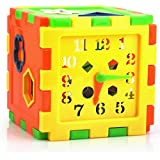 Magideal Plastic Time Shape Teaching Training Educational Puzzle Toy