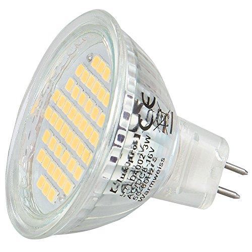 b6ddd7430ee0  lux.pro  SMD Spot  MR16 GU5.3  3W  warmweiss  8-16V AC DC  54SMD  Energiesparlampe