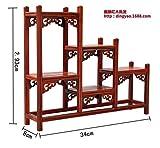 GWDecor Antik Palisander Regal Chinesisch Traditionelle Handarbeit Geschnitzt Retro Möbel Creative Home Dekor Schmuck Storage 3 Schritte Form