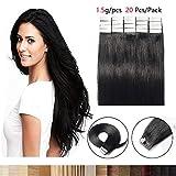 Extension Capelli Veri Biadesivo 20 Fasce 100% Remy Human Hair 40cm #6 Marrone Chiaro 30g/Set