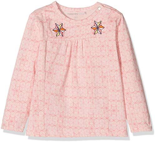 Noppies Baby-Mädchen G Tee ls Tormod AOP Langarmshirt, Rosa (Blush C093), 80 - Gestickte Grafik Tee