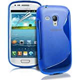 JAMMYLIZARD | S-Line Silikon Case Hülle für Samsung Galaxy S3 Mini, BLAU