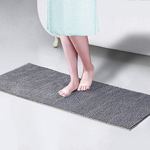 Xiyunte tappetini per il bagno, extra long antiscivolo bagno tappetini morbido ciniglia tappeti da bagno microfibra tappeto, assorbente tappetini da bagno, lavabile in lavatrice tappetini da vasca